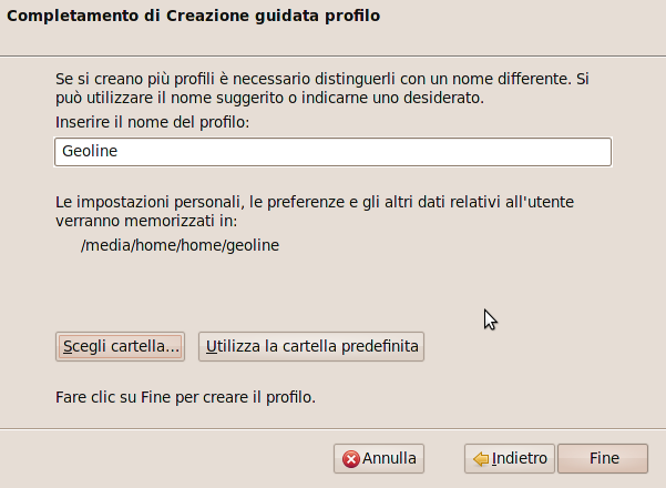 Profilo Utente Ubuntu